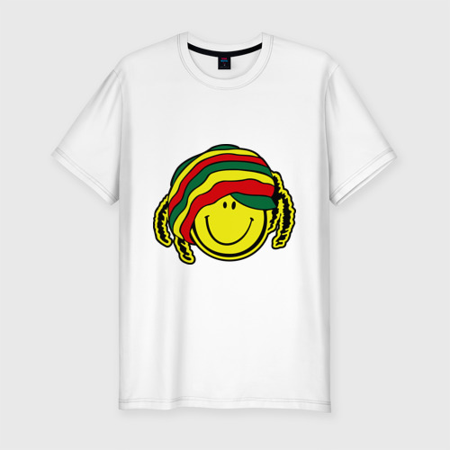 Мужская футболка премиум  Фото 01, Cмайл-растаман