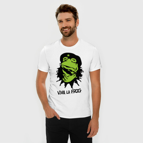 Мужская футболка премиум  Фото 03, Viva la Frog
