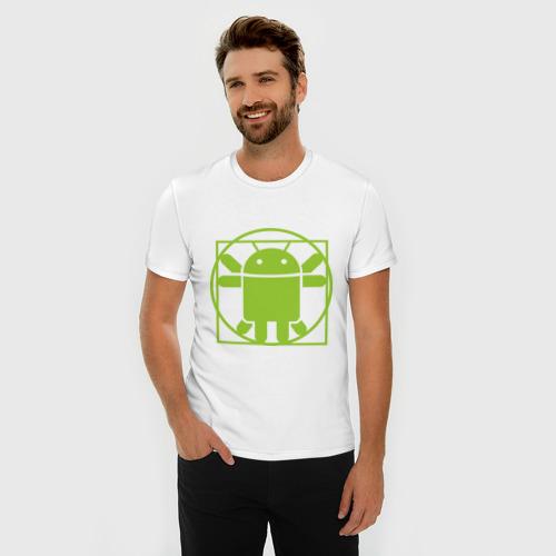 Мужская футболка премиум  Фото 03, Андроид давинчи