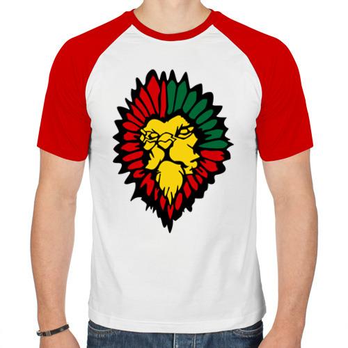 Мужская футболка реглан  Фото 01, лев растаман