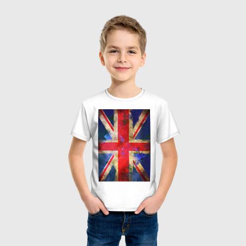 Детская футболка хлопок Флаг Британии в цветах Фото 01
