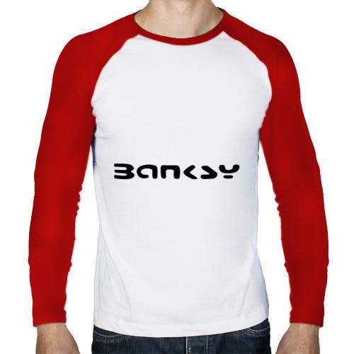 Мужской лонгслив реглан  Фото 01, Banksy logo
