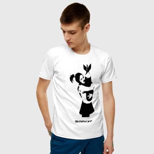 Мужская футболка хлопок Девочка с бомбой Фото 01