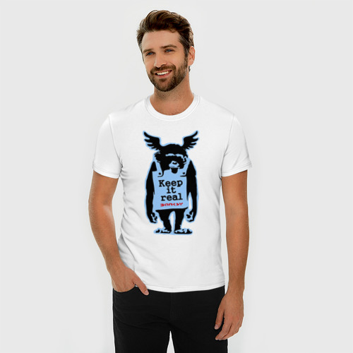 Мужская футболка премиум Keep it real. Banksy Фото 01