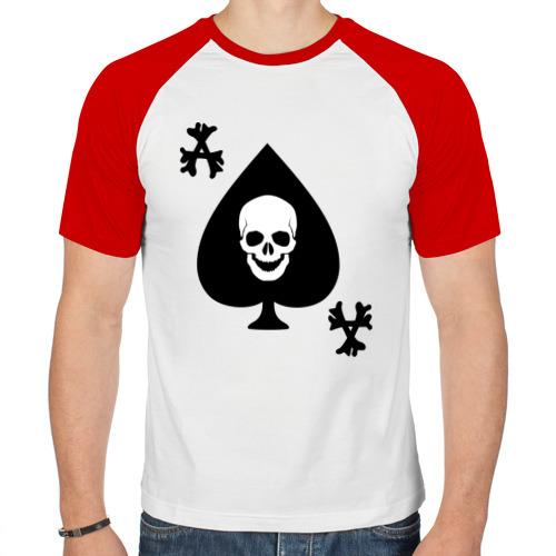 Мужская футболка реглан  Фото 01, Skull card