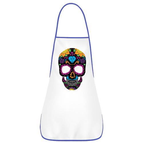 Фартук с кантом Skull mexica