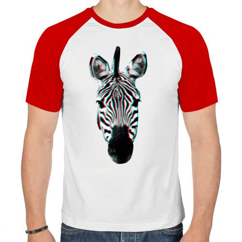 Мужская футболка реглан  Фото 01, Зебра watercolor