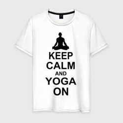 Keep calm and yoga on