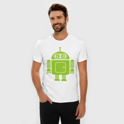Мужская футболка премиум  Фото 03, Android-bender.