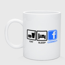 Eat sleep facebook - интернет магазин Futbolkaa.ru