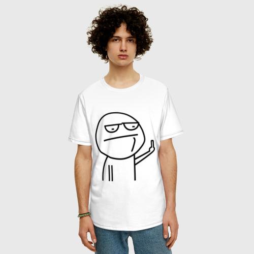 Мужская футболка хлопок Oversize Иди нафиг Фото 01