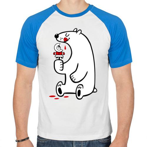 Белый медведь ест эскимоса