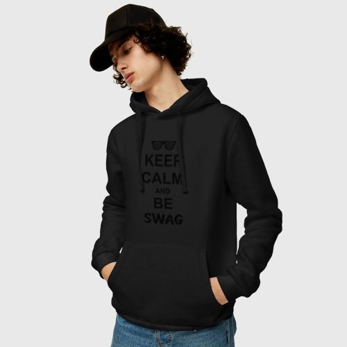 Мужская толстовка хлопок  Фото 03, Keep calm and be swag