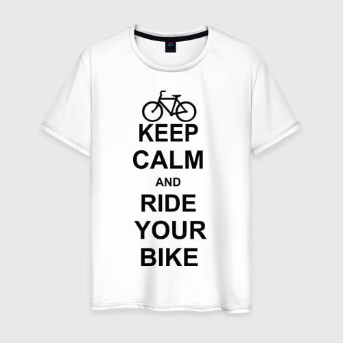 Мужская футболка хлопок Keep calm and ride your bike
