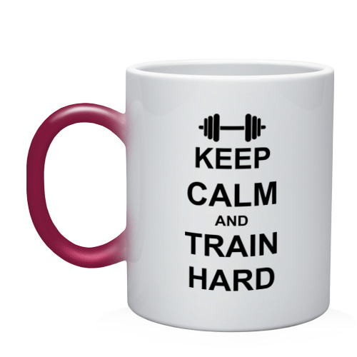 Кружка хамелеон  Фото 01, Keep  calm and train hard