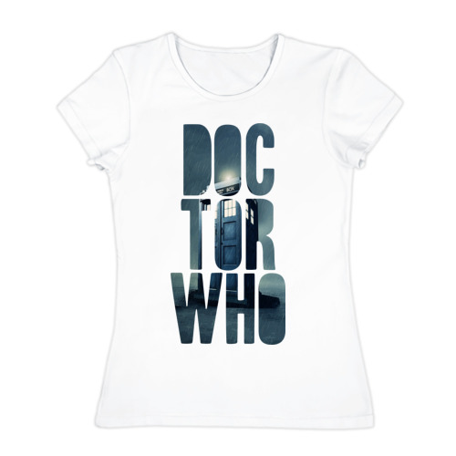 Женская футболка хлопок Doctor Who