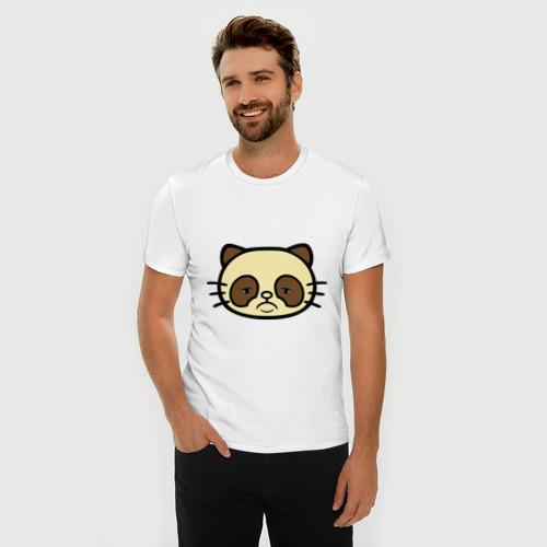 Мужская футболка премиум  Фото 03, Грустный кот