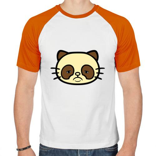 Мужская футболка реглан  Фото 01, Грустный кот