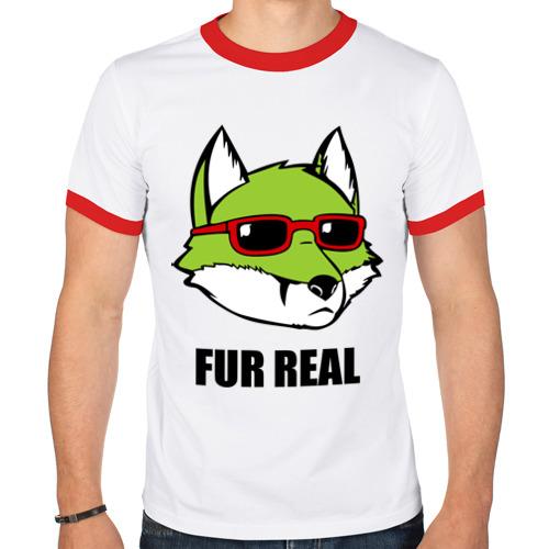Мужская футболка рингер  Фото 01, Green Fox