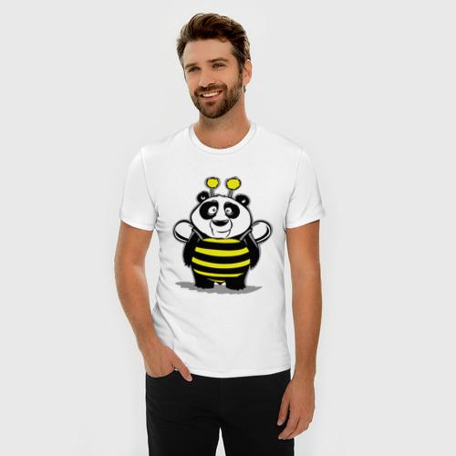 Мужская футболка премиум  Фото 03, Панда в костюме пчелы