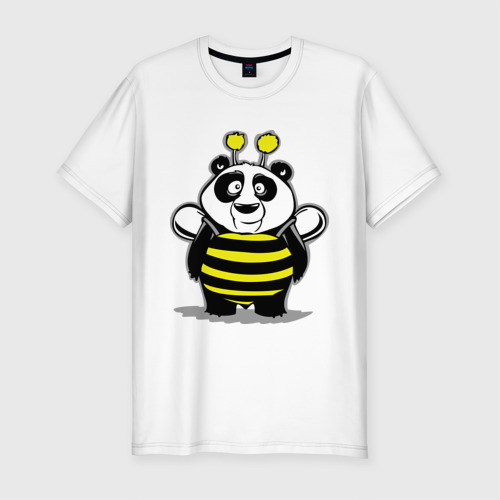 Мужская футболка премиум  Фото 01, Панда в костюме пчелы