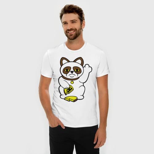 Мужская футболка премиум  Фото 03, Грустный кот – кот неудачи