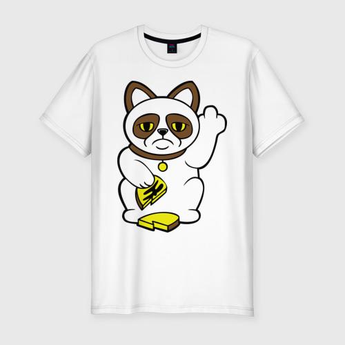 Мужская футболка премиум  Фото 01, Грустный кот – кот неудачи