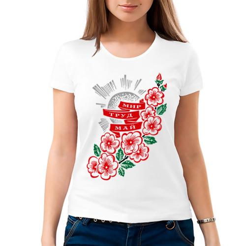 Женская футболка хлопок  Фото 03, Мир, труд, май