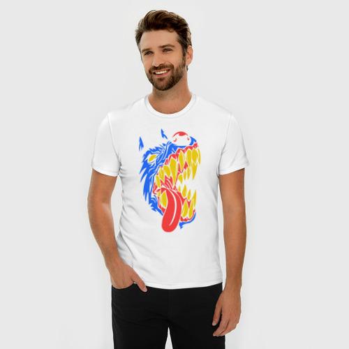 Мужская футболка премиум  Фото 03, Злая собака