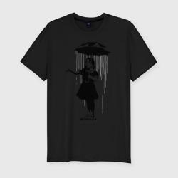 Girl in rain (Banksy)