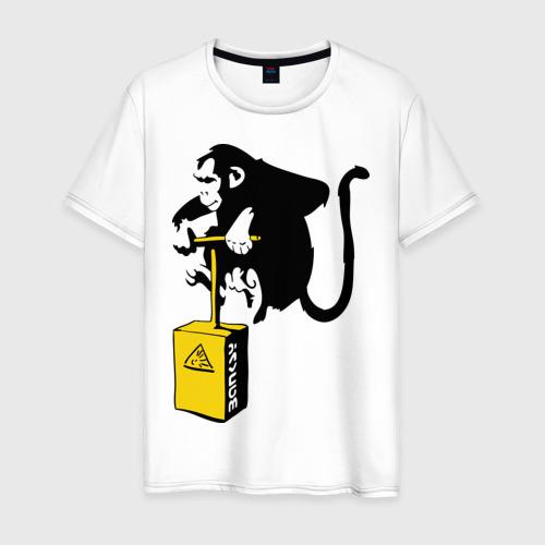 Мужская футболка хлопок TNT monkey (Banksy) Фото 01
