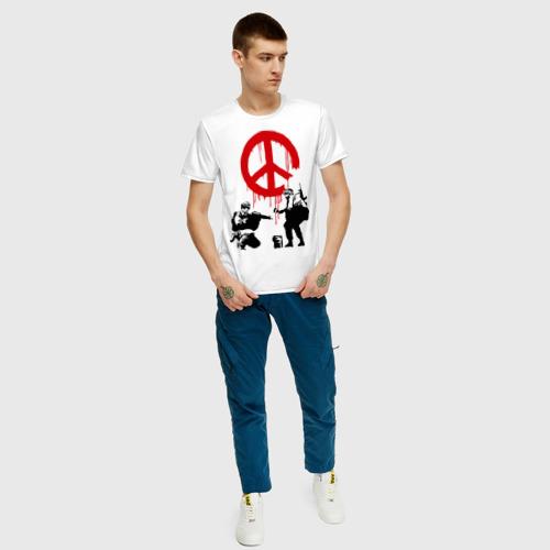 Мужская футболка хлопок Peace Banksy Фото 01