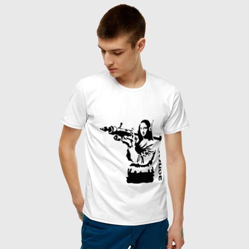Мужская футболка хлопок Мона Лиза с базукой Фото 01