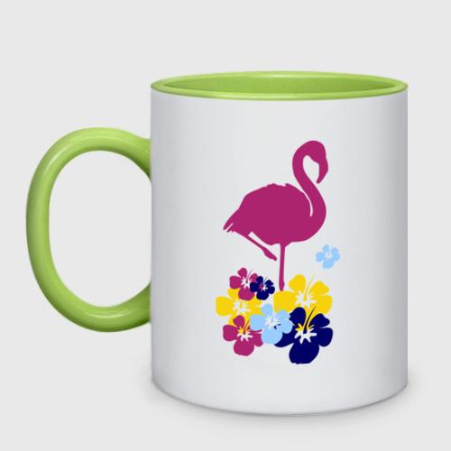 Кружка двухцветная Фламинго Фото 01
