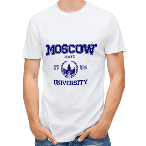 Мужская футболка полусинтетическая  Фото 01, MGU Moscow University