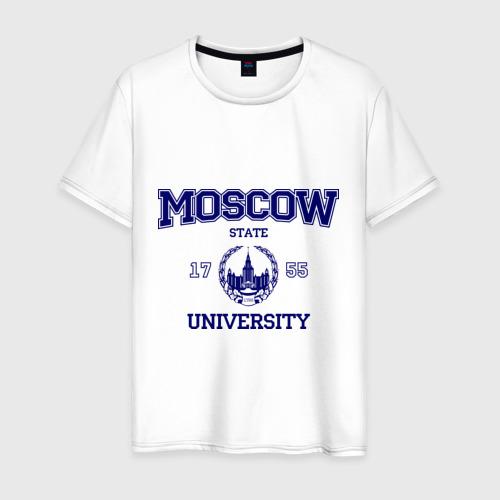 Мужская футболка хлопок MGU Moscow University Фото 01