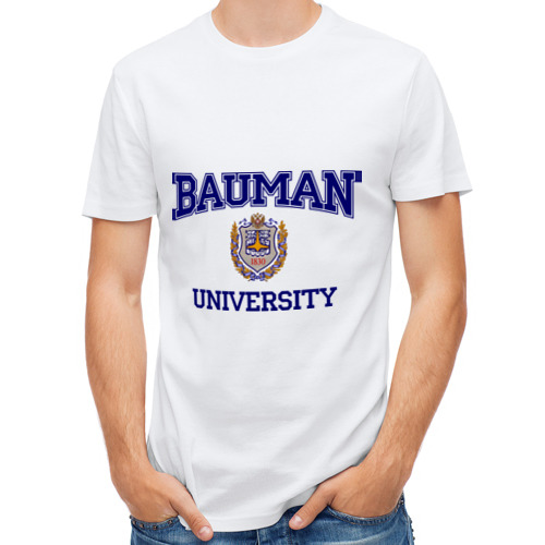 Мужская футболка полусинтетическая  Фото 01, BAUMAN University