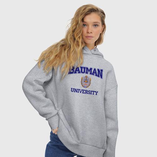 Женское худи Oversize хлопок BAUMAN University Фото 01