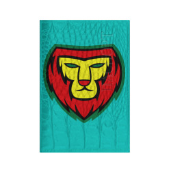 Lion red yellow green
