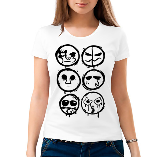 Женская футболка хлопок  Фото 03, HU Mask one color