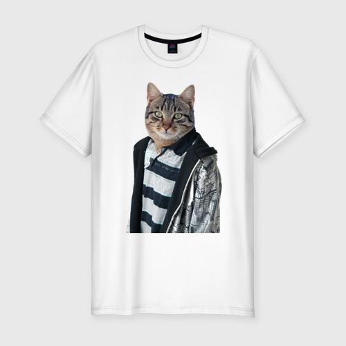 Мужская футболка премиум  Фото 01, Cat or dog