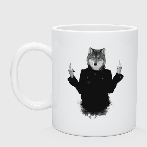 Кружка  Фото 01, Fuck wolf
