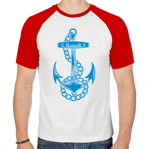 Мужская футболка реглан  Фото 01, Blue anchor