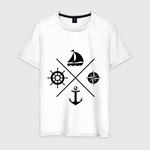 Мужская футболка хлопок Sailor theme Фото 01