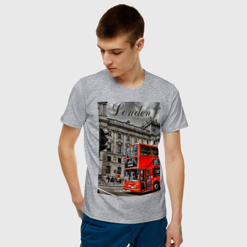 Мужская футболка хлопок Улицы Лондона Фото 01