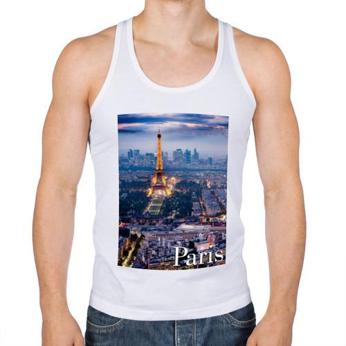 Мужская майка борцовка Город Paris