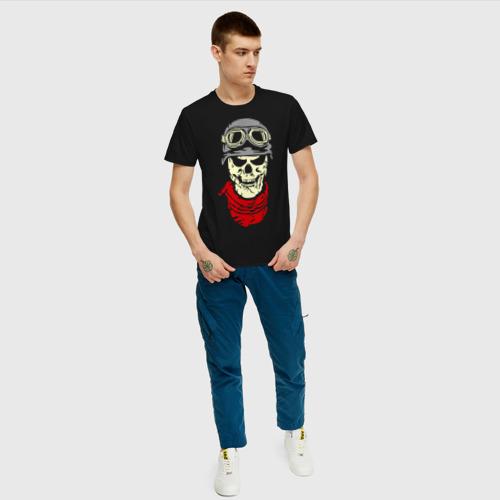 Мужская футболка хлопок Череп байкер Фото 01