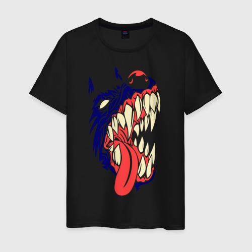 Мужская футболка хлопок Злая собака