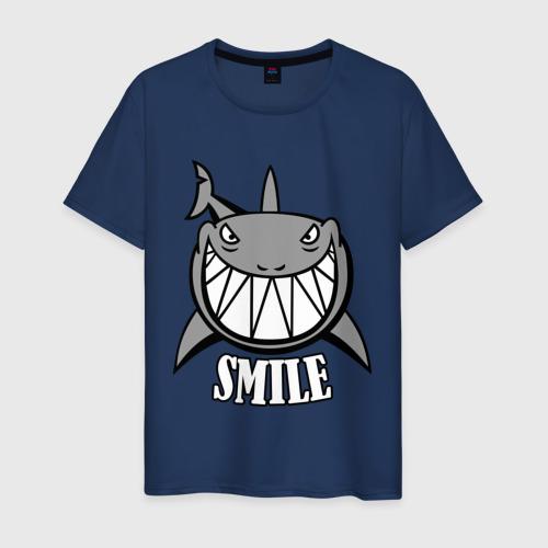 Мужская футболка хлопок Акула улыбается Фото 01