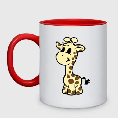 Кружка двухцветная Жираф